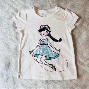 ▪️Gap Kid's Girls White T-shirt Size 4T